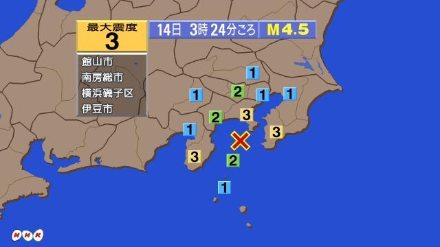 の 地震 今日